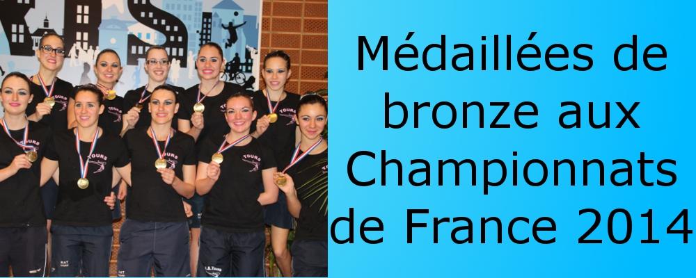 médaillées de bronze chpts france 2014